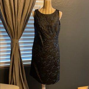 2/$15 Taylor Navy blue and black dress